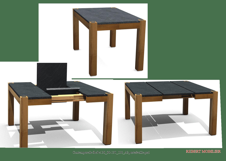 Table portefeuille en résine