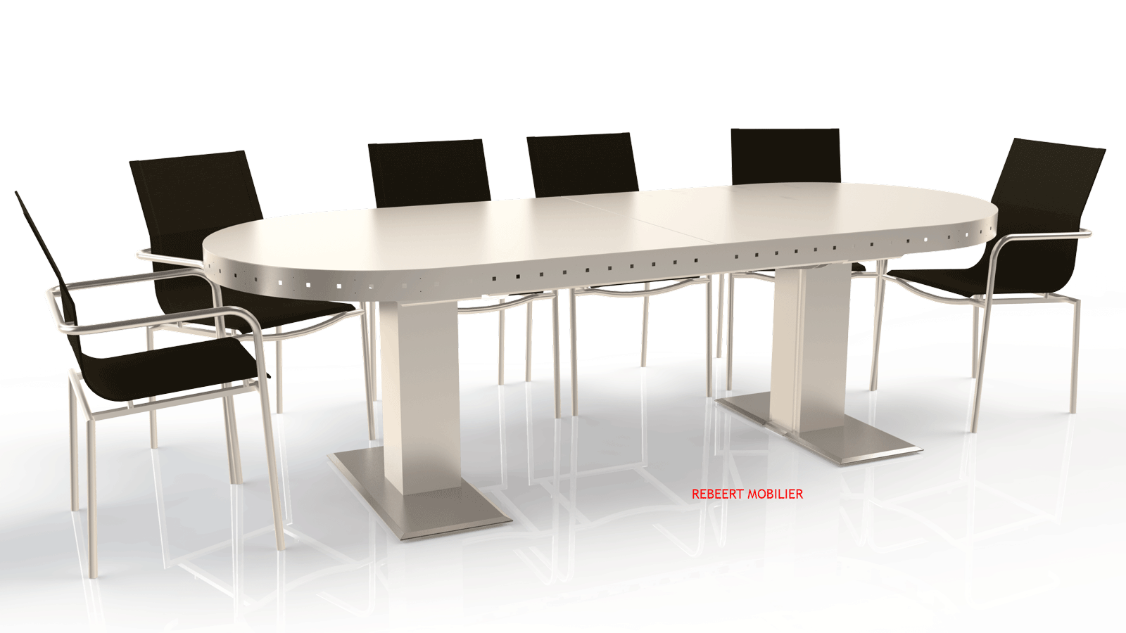 Table d'extérieur rectangulaire ou oblongue