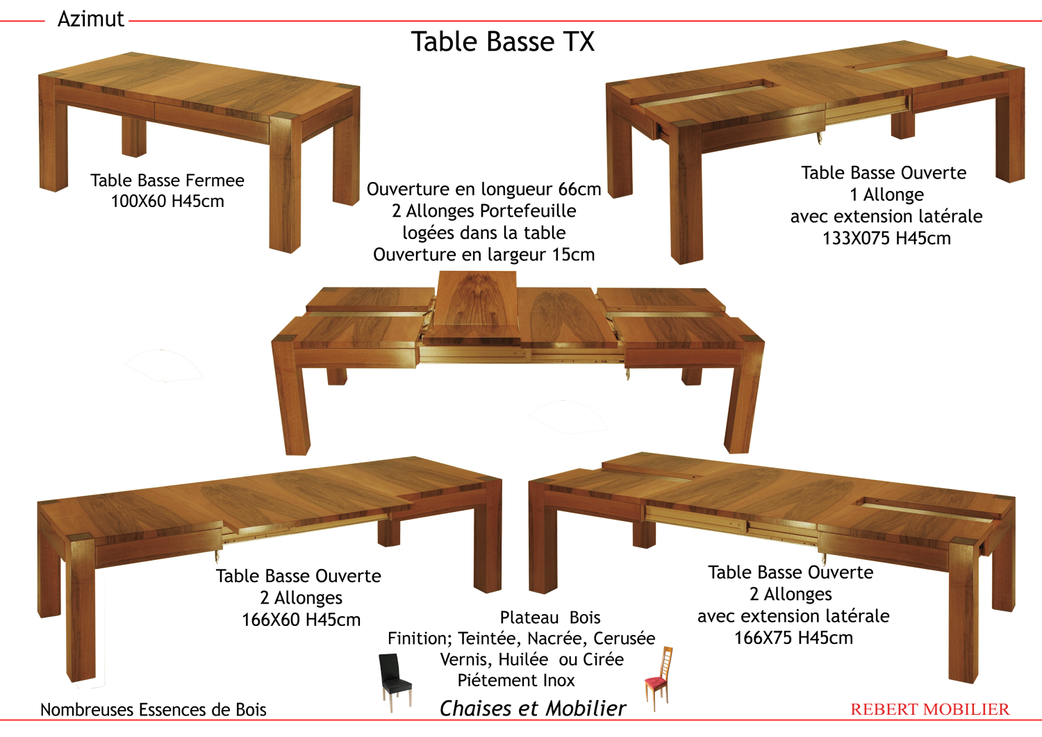 Table basse TX